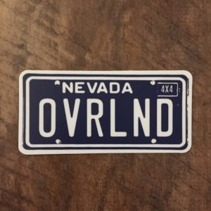 NV OVRLND STICKER
